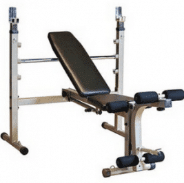 The HF-4170 Fold-Up Olympic Bench for Free Weight Strength Training