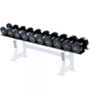 Life Fitness Hammer Strength Single Tier Dumbbell Rack