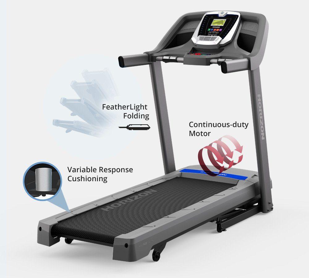 Horizon T101 Treadmill For Sale: HORIZON TREADMILL T101-04