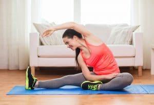stretching girl