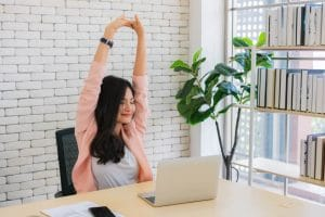 Exercise while working from home by Fitness Expo